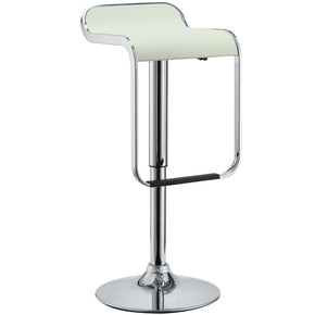 Lem Faux Leather Bar Stool White Chair