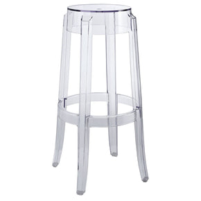 Casper Ghost Bar Stool Clear Chair