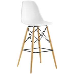 Bar Chairs - Modway EEI-1701-WHI Pyramid Mid-Century Modern Bar Stool Molded ABS Plastic | 848387081768 | Only $92.95. Buy today at http://www.contemporaryfurniturewarehouse.com