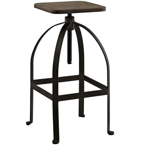 Pointe Industrial Modern Bar Stool Brown Chair
