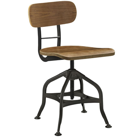 Mark Industrial Modern Wood Dining Stool Brown Bar Chair