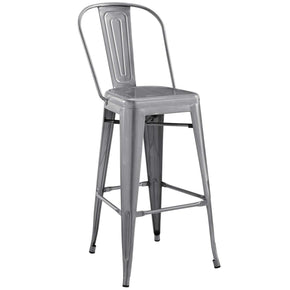 Promenade Bar Side Stool Gunmetal Chair