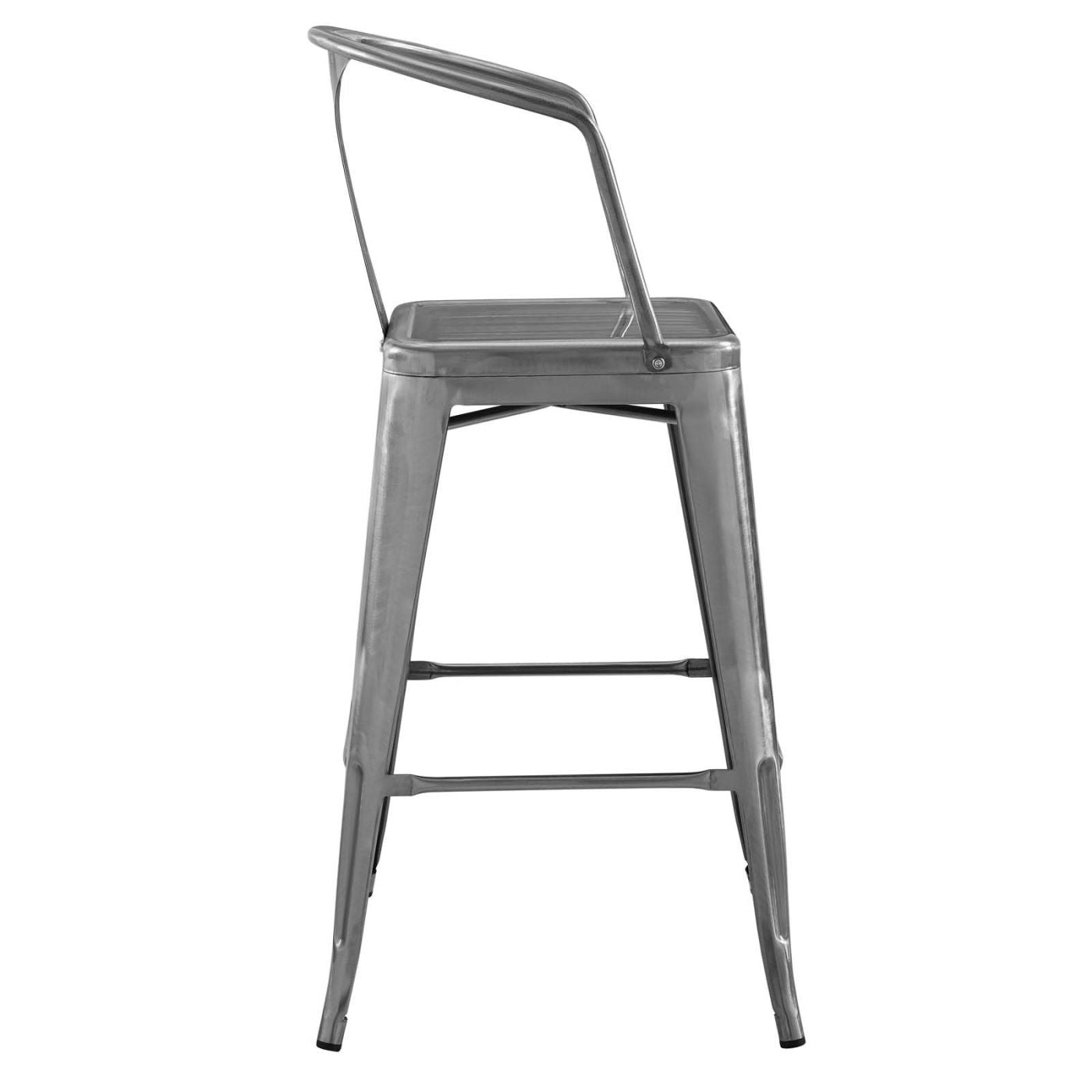 ... Promenade Cafe And Bistro Style Bar Stool Powder Coated Steel Chair ...  sc 1 st  Contemporary Furniture Warehouse & Modway EEI-2817-BLK Promenade Cafe and Bistro Style Steel Bar Chair