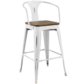 Bar Chairs - Modway EEI-2818-WHI Promenade Cafe and Bistro Style Bar Arm Chair | 889654110620 | Only $129.75. Buy today at http://www.contemporaryfurniturewarehouse.com