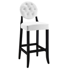Button Bar Stool White Chair