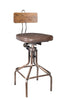 National industrial-inspired Adjustable Bar Stool