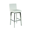 Giro Bar Stool White Brushed Stainless Steel