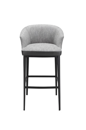 Beckett Bar Stool Grey Fabric Chair