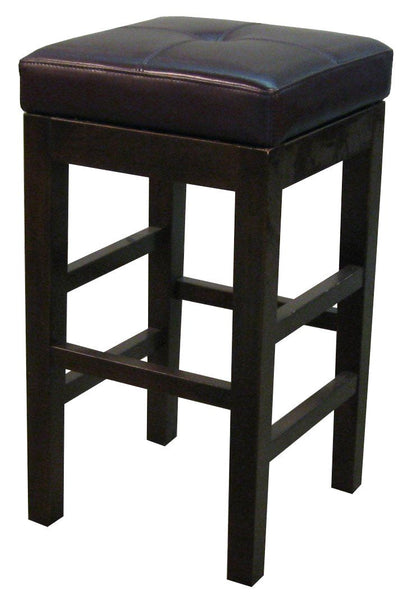 Valencia Backless Leather Bar Stool Brown Chair