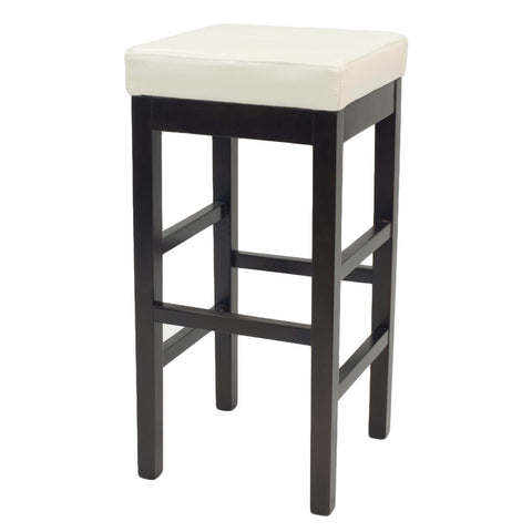 Valencia Backless Leather Bar Stool Beige Chair