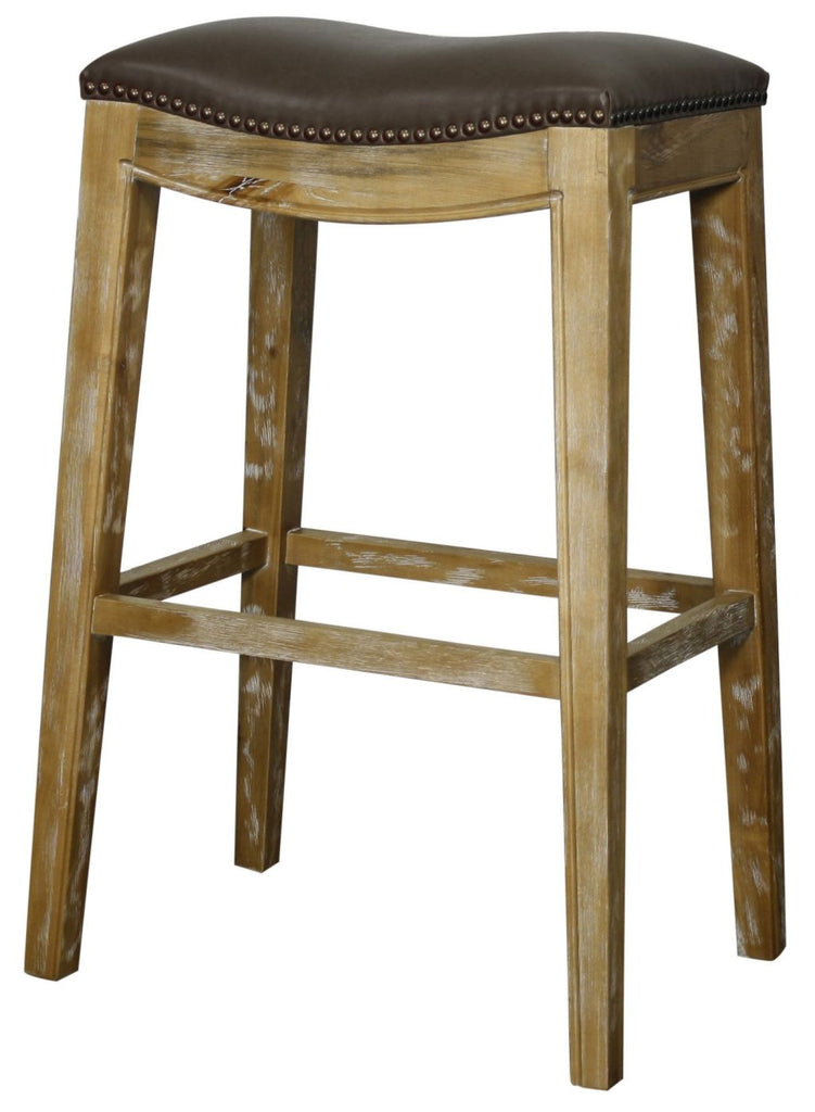 new pacific direct elmo bonded leather bar stool weathered smoke