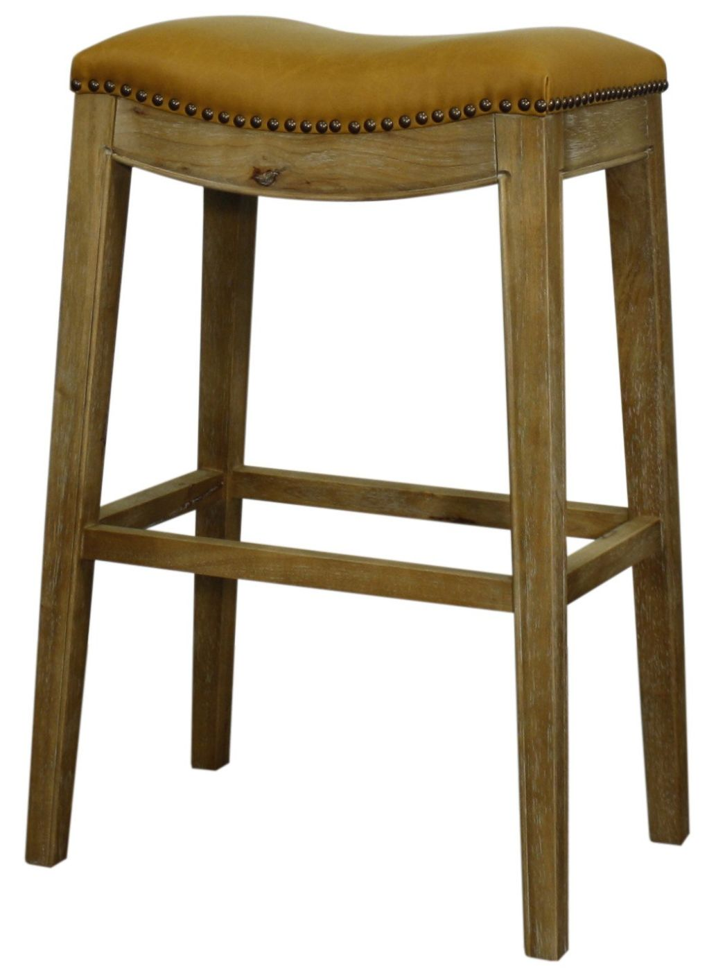 New Pacific Direct Elmo Bonded Leather Bar Stool Weathered