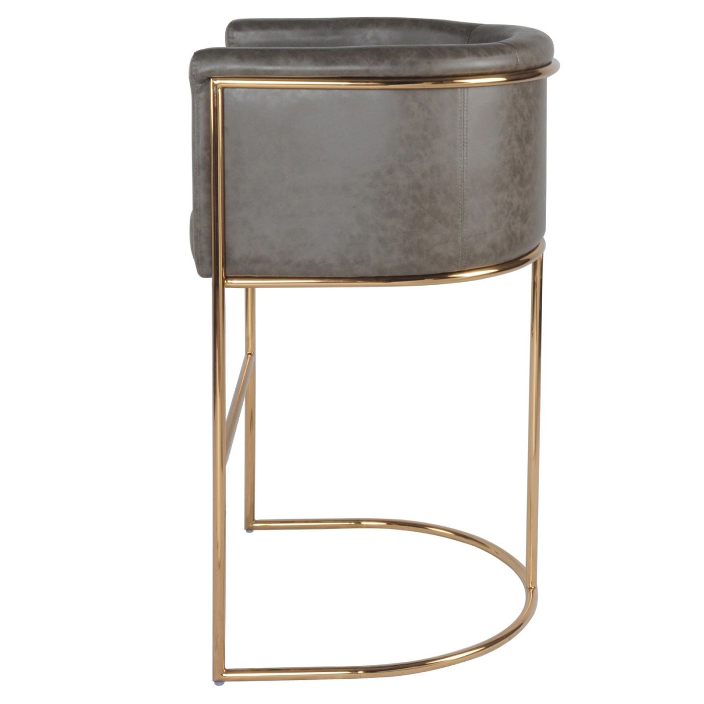 ... Colm Pu Leather Bar Stool Vintage Rye Gray Chair ...