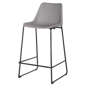 Delta Pu Leather Abs Bar Stool Vintage Mist Gray Chair