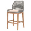 Bar Chairs - Orient Express Furniture 6808BS.PLA/LGRY Loom Barstool Platinum | Light Gray Seat, Stone Wash Mahogany | 842279102982 | Only $529.00. Buy today at http://www.contemporaryfurniturewarehouse.com