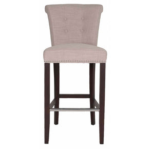 Luxe Barstool Almond Fabric Bar Chair