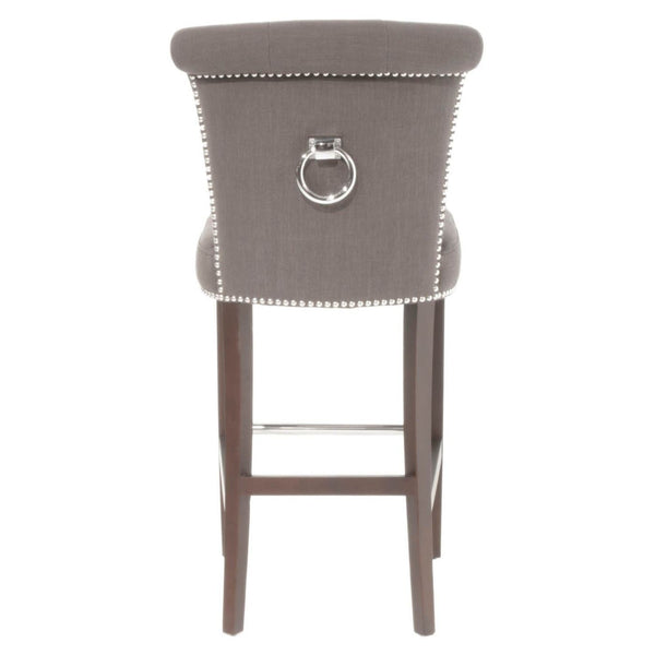 Luxe Barstool Sepia Fabric Bar Chair