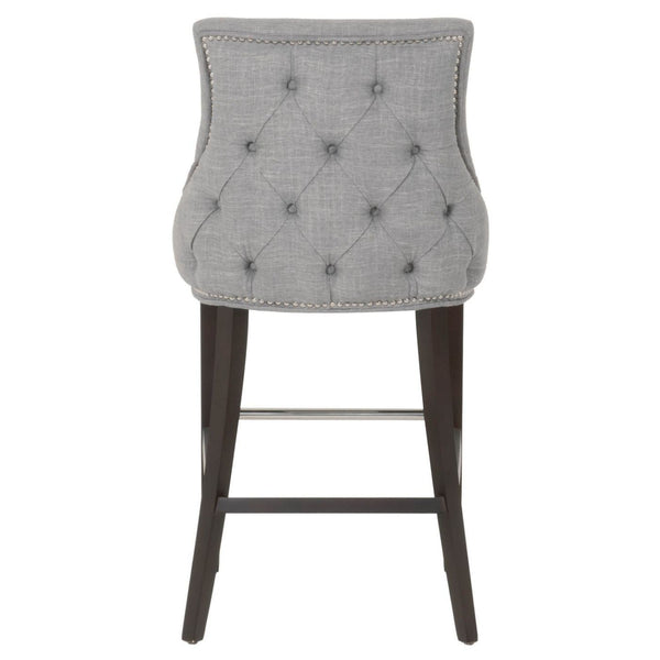 Avenue Barstool Smoke Fabric Bar Chair