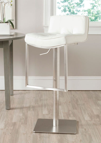 Newman Swivel Barstool White Bar Chair