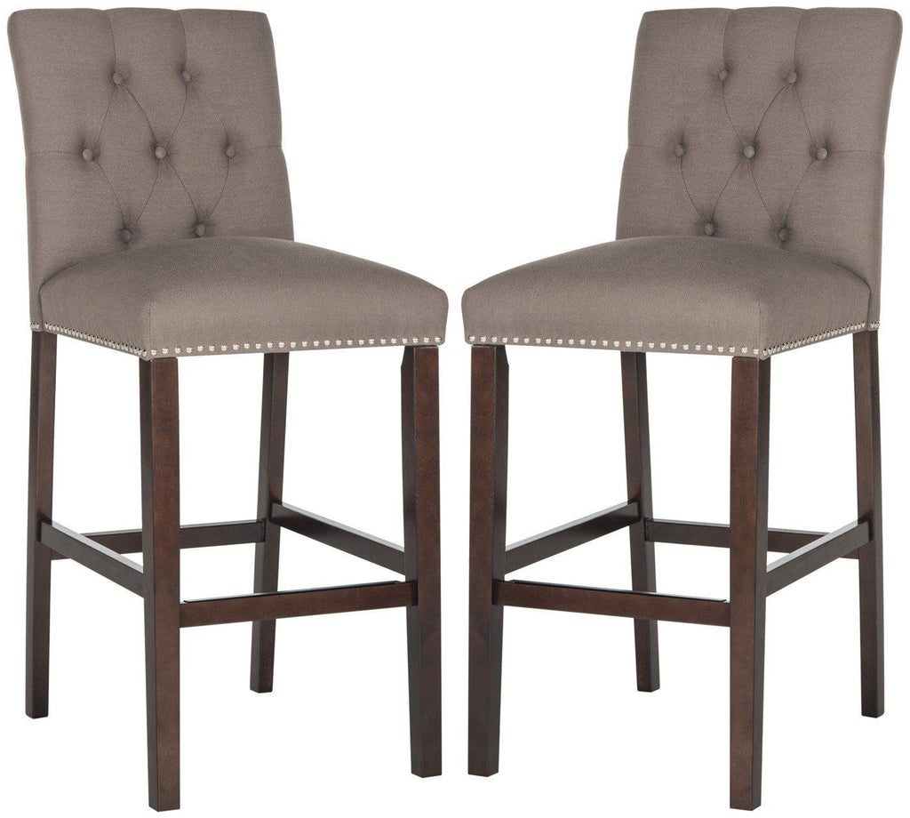 Norah Barstool Dark Taupe (Set Of 2) Bar Chair