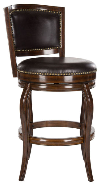 Pasquale Swivel Barstool Espresso/brown Seat Bar Chair