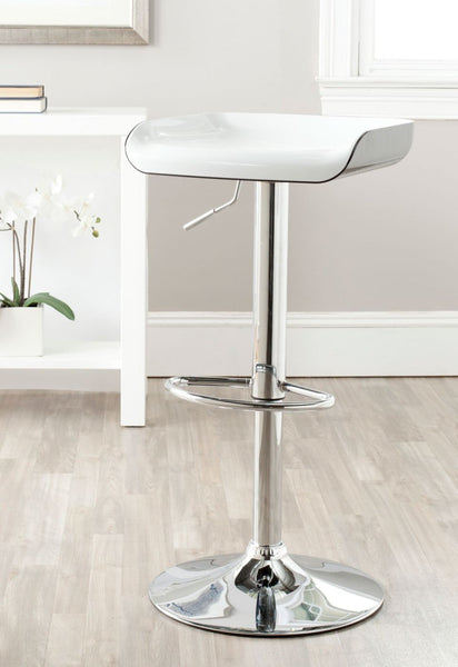 Rameka Swivel Barstool White,black Bar Chair