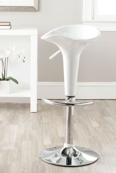 Jataya Swivel Barstool White Bar Chair
