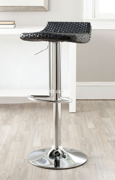 Bar Chairs - Safavieh FOX7527B Juji Swivel Barstool Wicker Black | 683726767374 | Only $134.80. Buy today at http://www.contemporaryfurniturewarehouse.com