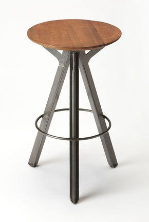 Allegheny Modern Round Industrial Bar Stool Multi-Color Chair