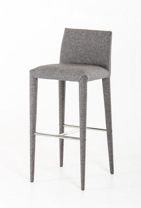 Modrest Medford Modern Grey Fabric Bar Stool Chair