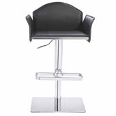 Modrest Emily Modern Black Eco-Leather Bar Stool Chair