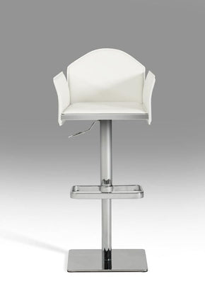 Modrest Emily Modern White Eco-Leather Bar Stool Chair