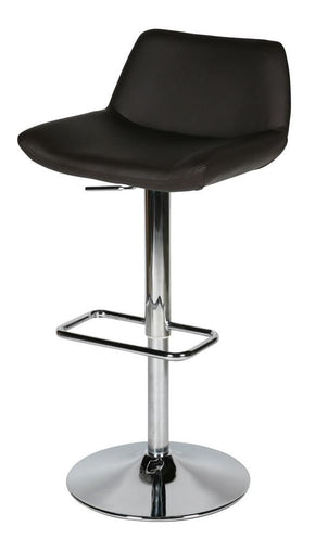 Maya Barstool Chocolate Eco Leather Bar Chair