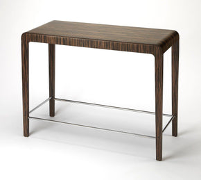 Blach Modern Rectangular Pub Table Dark Brown Bar