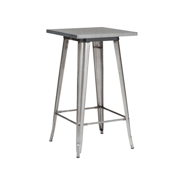 Design Lab MN Sundsvall Clear Gunmetal Steel Bar Table 42 LS-9110-GUN | 637262593638| $174.80. Bar Tables - . Buy today at http://www.contemporaryfurniturewarehouse.com