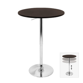 Adjustable Bar Table Brown