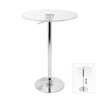 Adjustable Bar Table Clear