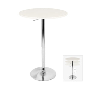 Adjustable Bar Table White