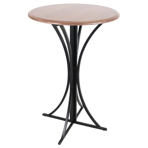 Boro Bar Table Walnut Black