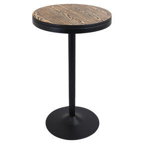 Dakota Bar Table Black Medium Brown Top