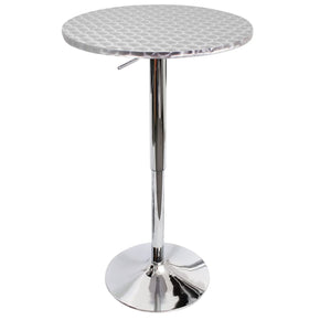 Bistro Bar Table Silver