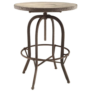 Sylvan Industrial Modern Wood Top Bar Table Brown