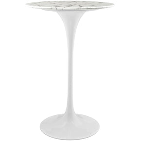 "Bar Tables - Modway EEI-1827-WHI Lippa 28"" Artificial Marble Bar Table 