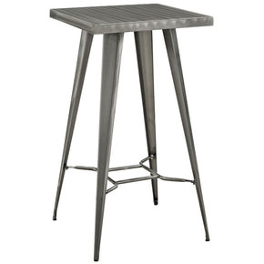 Direct Metal Bar Table Gunmetal