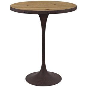 Drive Industrial Modern Wood Bar Table Brown