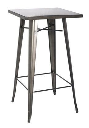Metropolis Metal Bar Table Gunmetal