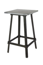 Amelie Bistro Bar Table Antique White Steel