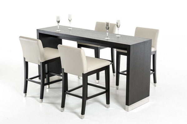 Vig Furniture Vgvct8158vg Modrest Silas Modern Wenge Wood Bar Table Sale At Contemporary Furniture Warehouse Today Only