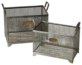 Rowley Transitional Rectangular Storage Basket Set Gray