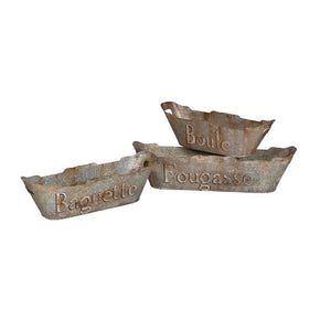 Tin Bread Baskets Aged Metal Basket